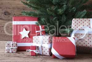 Close Up Of Christmas Tree With Gifts And Presents