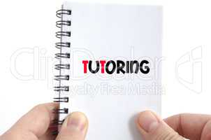 Tutoring text concept