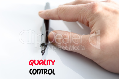 Quality control text concept
