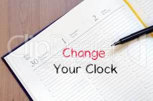 Change your clock text concept on notebook