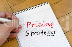 Pricing strategy text concept