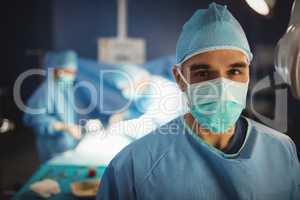 Portrait of a surgeon in operation room