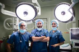Portrait of surgeons in operation room