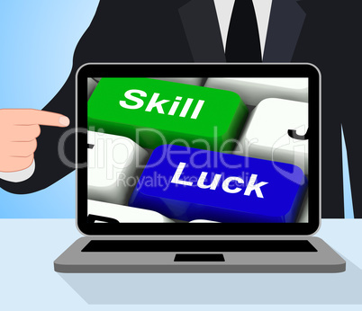 Skill And Luck Keys Displays Strategy Or Chance