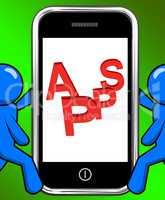 Apps On Phone Displays Internet Application Or App