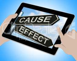 Cause And Effect Tablet Means Results Of Actions