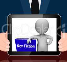 Non Fiction Book And Character Displays Educational Text Or Fact
