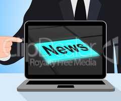 News Button Displays Newsletter Broadcast Online