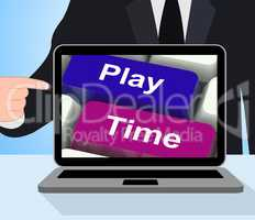 Play Time Computer Show Playing And Entertainment For Children