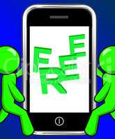 Free On Phone Displays Freebie Gratis and Promotion
