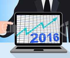 Twenty Sixteen Graph Chart Displays Increase In 2016