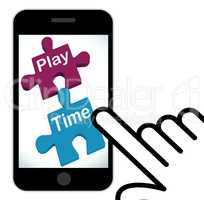 Play Time Puzzle Displays Fun And Leisure For Children