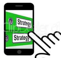 Strategy Folders Displays Strategic Planning And Business Proces