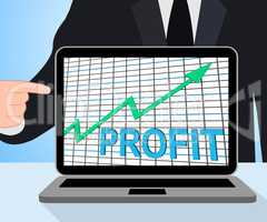 Profit Chart Graph Displays Increase Cash Wealth Revenue