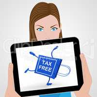 Tax Free Handstand Shopping Bag Displays No Duty Taxation