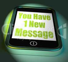 You Have 1 New Message On Phone Displays New Mail
