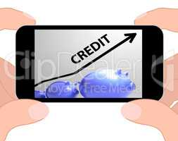 Credit Arrow Displays Lending Debt And Repayments