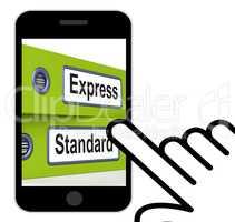 Express Standard Folders Displays Fast Or Regular Delivery