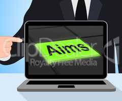 Aims Button Displays Targeting Purpose And Aspiration