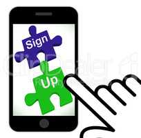Sign Up Puzzle Displays Joining Or Membership