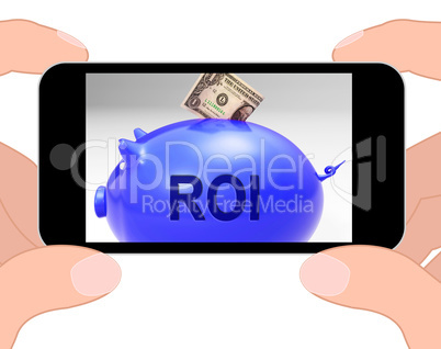 ROI Piggy Bank Displays Investors Return And Income