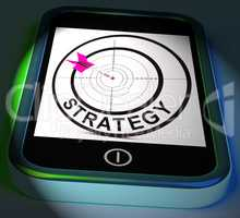 Strategy Smartphone Displays Methods Tactics And Game Plan