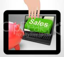 Sales Key Displays Web Selling And Financial Forecast