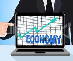 Economy Graph Chart Displays Increase Economic Fiscal Growth