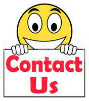 Contact Us On Sign Shows Communicate Online