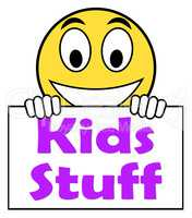 Kids Stuff On Sign Means Online Activities For Children