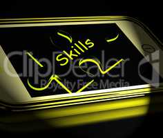 Skills Smartphone Displays Knowledge Abilities And Competency