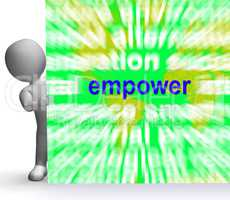 Empower Word Cloud Sign Means Encourage Empowerment