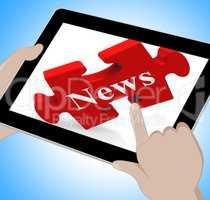 News Tablet Means Web Headlines Or Bulletin
