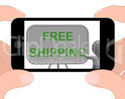 Free Shipping Phone Shows Item Shipped At No Cost