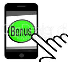 Bonus Button Displays Extra Gift Or Gratuity Online