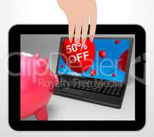 Fifty Percent Off Laptop Displays 50 Half-Price Savings