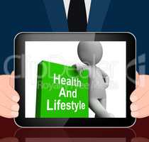 Health And Lifestyle Book With Character Displays Healthy Living