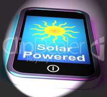 Solar Powered On Phone Displays Alternative Energy And Sunlight