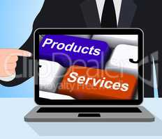 Products Services Keys Displays Company Goods And Assistance