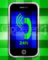 Twenty Four Hour On Phone Displays Open 24h