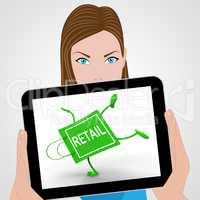 Handstand Retail Shopping Bag Displays Buying Selling Merchandis