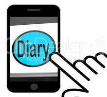 Diary Button Displays Online Planner Or Schedule