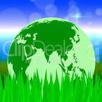 Global Nature Shows Planet Globally And Globalise