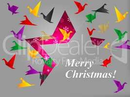 Birds Xmas Shows Merry Christmas And Celebration