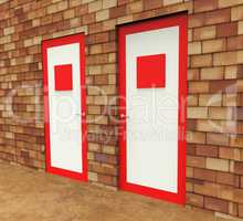 Doors Choice Represents Path Choosing And Decide