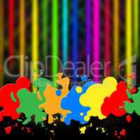 Splash Background Indicates Paint Colors And Splattered