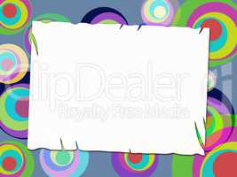 Copyspace Circles Represents Colorful Multicoloured And Vibrant