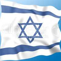 Flag Israel Indicates Middle East And Destination