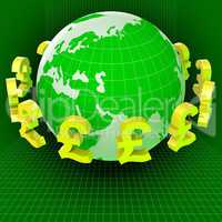 Forex Pounds Indicates Exchange Rate And Gbp