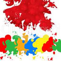 Paint Color Indicates Blots Splashes And Blob